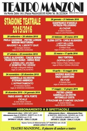 stagione teatro manzoni 2015 2016
