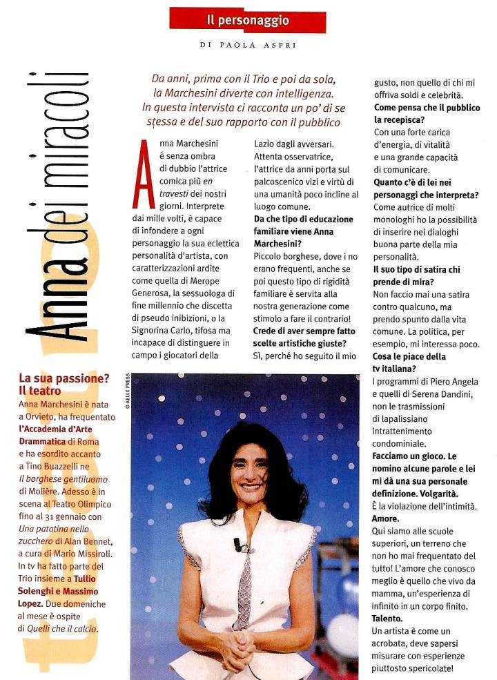 INTERVISTA AD ANNA MARCHESINI